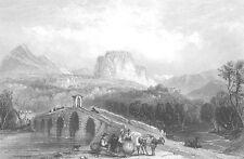 Italy Milan CASTLE Cassano ALLO all'Ionio ~ 1841 Landscape Art Print Engraving