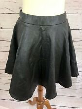 361ffc90a7 Topshop Women's Black Skater Swing Skirt Faux Leather Size US 8 EUC