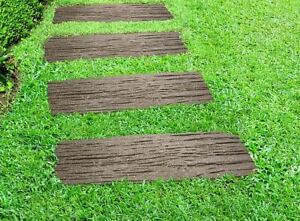 Traditional Rail Road Stepping Stones Recycled Rubber Hard Wearing Durable