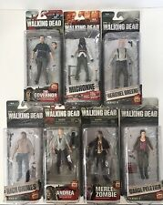 Walking Dead Figures Lot (7) Mixed  Series 4-7 Great Collection