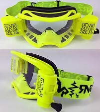 2015 RIP N ROLL RNR COLOSSUS MOTOCROSS MX XL ROLL OFF GOGGLES enduro NEON