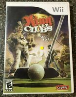 King of Clubs Mini-Golf (Nintendo Wii) Complete w/ Manual - Tested - Free Ship