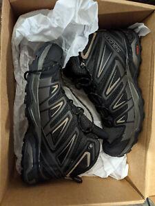 SALOMON X ULTRA MID 3 AERO MENS Hiking Boots PEAT/BUNGEE CORD VINTAGE KAKI