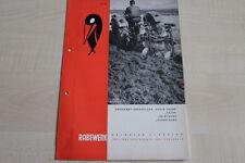 160985) Rabewerk Drehpflug - Taube & Feldtaube & Supertaube - Prospekt 10/1968