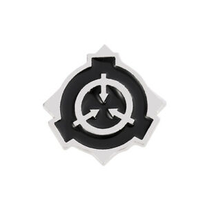 SCP Foundation Zinc Alloy Brooch Metal Badge chest pin figure cosplay pins