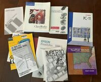 lot of vintage computer manuals - Epson, Mario Teaches Typing, Canon, Quicken