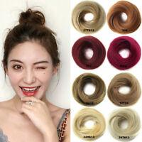 Natural Donut Bun Hair Piece Scrunchie Real Human Look   Hair Extensions Ring US