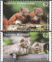 BRD 3124-3125 (kompl.Ausg.) postfrisch 2015 Tierbabys