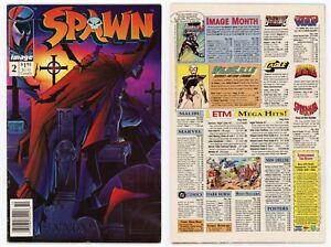 Spawn #2 FN 6.0 Rare NEWSSTAND 1st Clown 1st The Violator McFarlane 1992 Image