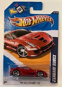 Hot Wheels FERRARI 599XX Red HW All Stars '12 Mattel New and Sealed 125/247