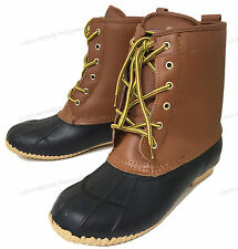 NEW Men's Boots LEATHER / RUBBER Insulated Waterproof 5-Eyelet-Size 13  LAST ONE