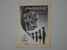 advertising Pubblicità 1960 CINEPRESA BOLEX B 8L