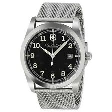 New Victorinox Swiss Army 241585 Infantry Men's Mesh SS  Watch