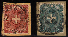 ITALY Used Scott # 74-75 Seal - on paper (2 Stamps) -1