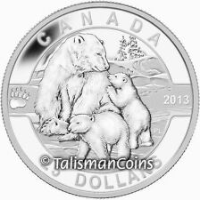 Canada 2013 Oh! Canada Series 4 Mother Polar Bear w Baby Cubs $25 1 Oz Silver