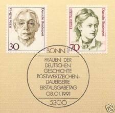 BRD 1991: Frauen Nr. 1488 + 1489 mit sauberem Bonner Ersttagsstempel! 1A 1603