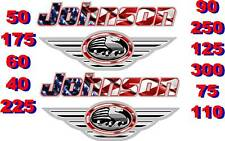 2 JOHNSON BOAT MOTOR DECAL,STICKER,DECALS OUTBOARD FLAG
