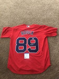 BOSTON RED SOX- TANNER HOUCK SIGNED AUTOGRAPH JERSEY PSA DNA COA PROSPECT STAR