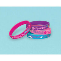 SHIMMER AND SHINE Rubber Bracelets Pack of 6 Favours Party Bag Filler Birthday