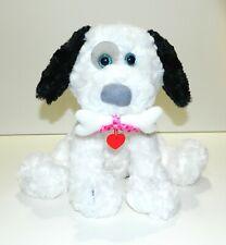 BARKLEY First & Main Black White Puppy Dog With Bone Plush Stuffed Animal Friend