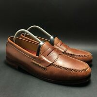 Cole Haan Pinch Grand Mens Brown Leather Penny Loafers Shoes Size 10 C12760