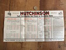 catalogue brochure ancien moto numéro 5 pneu hutchinson 1935