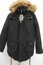 Black Coats & Jackets Overcoat Cotton Outer Shell for Men