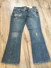 NWT AMERICAN EAGLE EXTREME LOW RISE SKINNY FLARE EMBELLISHED JEAN PANT 10 P  SFS
