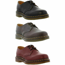DR Martens 1461 Z Mens Womens Classic Red Leather Shoes Size UK 6