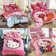 New Bed Line Set Hello Kitty Blanket Pink Duvet Cover Pillow Bed Single Twin Bed