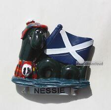 Tourist Souvenir 3D Travel Fridge Magnet - Scotch Flag & Nessie , Scotland