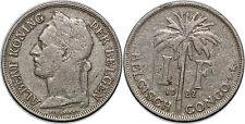 CONGO BELGE 1 FRANC 1922 KM#21