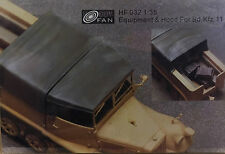 HOBBY FAN - 1/35 Equipment and Hood for Sd.kfz. 11 Half-track Conversion (Resin