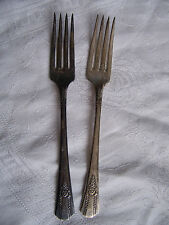 2 Antique SENATE SILVER Plate Silver Plated Flatware 2 matching forks