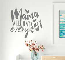 Vinyl Wall Decal Mama Love Family Parents Stickers 22.5 in x 21 in Grey gz317