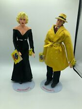 Applause Disney Dick Tracy lot of 2 large dolls with stands. Dick & Breathless