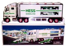 2003 Hess Toy Truck with Racecars Bag & Batteries!