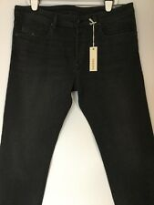 NWT MEN DIESEL BLACK/GRAY SLIM TAPERED LEG JEANS W38 L32  MADE IN USA BUTTON FLY