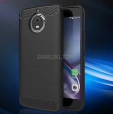 for Various Smartphones Carbon Fibre GEL Case Cover Brushed Shockproof Hybrid Motorola Moto G5