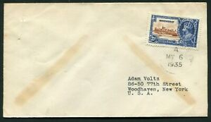 1935 Silver Jubilee Montserrat 2 1/2d on a correct rate FDC to the USA