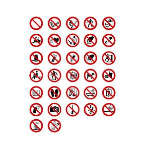 Aufkleber Verbotszeichen Schild Verbot Zeichen DIN 4844-2 ISO 7010