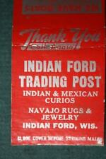 1940-50s Era Indian Ford,Wisconsin Navajo Trading Post Store matchbook-VINTAGE!