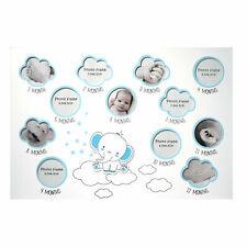 Newborn Baby Photo Frame My First Year 12 Month Keepsak Collage Gift Elephant