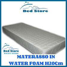 MATERASSO LETTO WATER FOAM H20 160X190CM ANALLERGICO ORTOPEDICO MADE IN ITALY