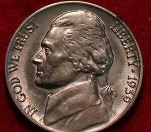 Uncirculated 1939-D Denver Mint Jefferson Nickel Not Silver
