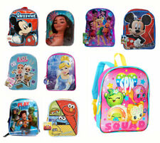 "15"" Backpack Kids Boys Girls Travel School Book bag Mochila Disney Marvel NickJr"
