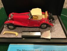 1983 Franklin Mint 1:24 1935 Mercedes-Benz 500K Special Roadster Diecast