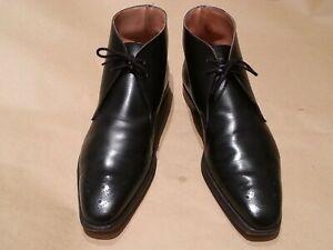 Crockett & Jones Shoes - RYTON Boots 8 Black - TRENDY MODERN SHAPED - Exclusive
