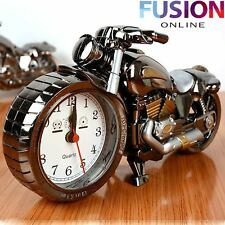 MOTORBIKE ALARM CLOCK BEDSIDE CREATIVE MOTORCYCLE WATCH TIME DESK ROOM HOME GIFT