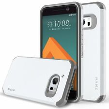 HTC 10 / HTC One M10 Case, Dual Layer Shockproof Bumper Silicone Case - White
